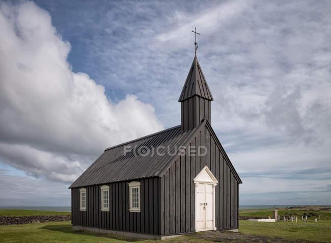 Malerische Aussicht auf die alte Kirche, Budir, Island — Stockfoto