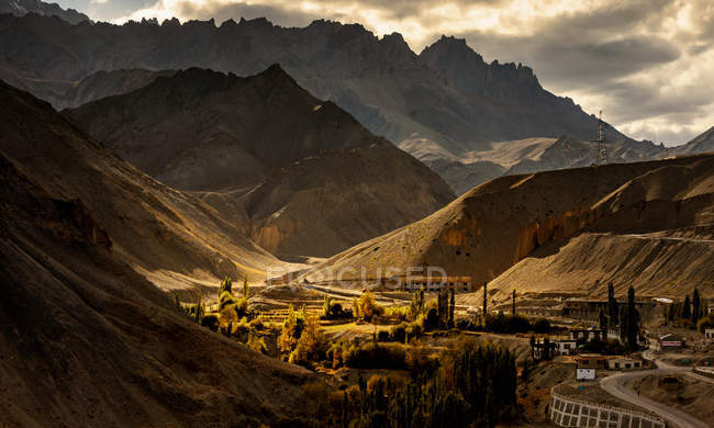 Aerial view of beautiful Leh, Ladakh, India — Stock Photo