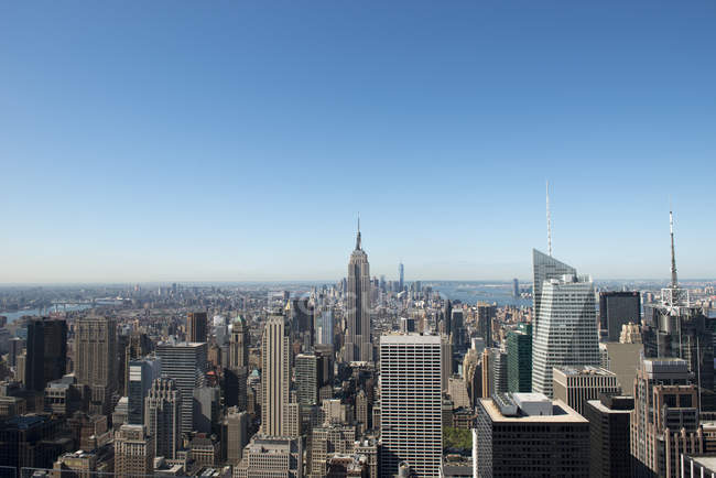 Vue panoramique sur Manhattan, New York, États-Unis — Photo de stock