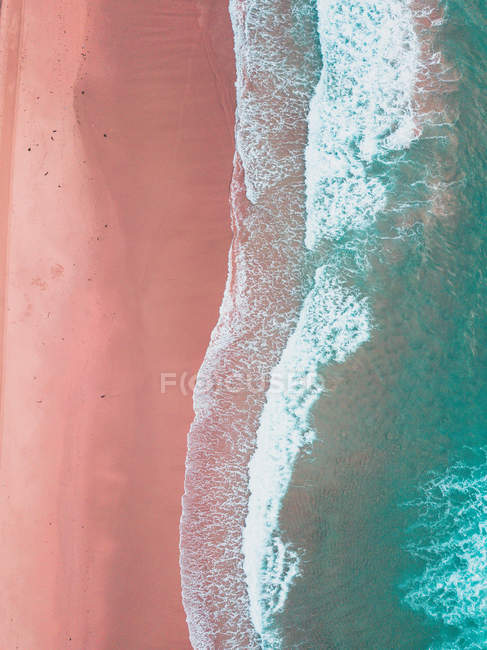 Aerial view of beach, Cronulla, New South Wales, Australia — Stock Photo