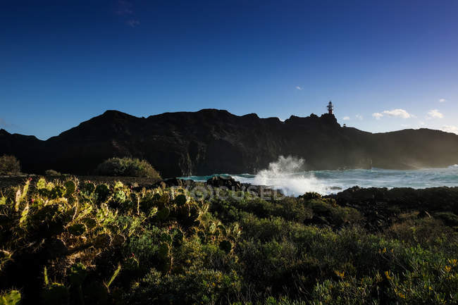 Vue panoramique du phare de Punta Teno, Tenerife, Iles Canaries, Espagne — Photo de stock