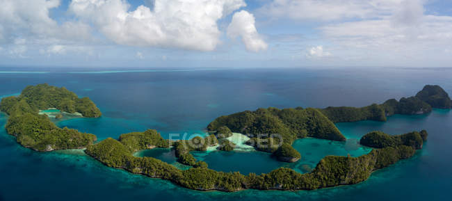 Aerial view of majestic Palau islands — Stock Photo