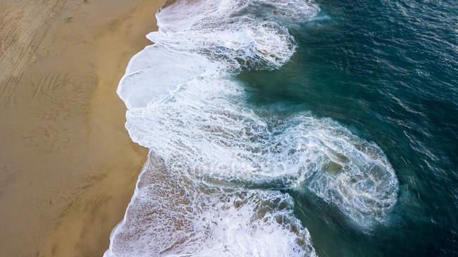Vue Aérienne De La Plage De Punta Lobos à Todos Santos En Basse Californie Sur au Mexique — Photo de stock