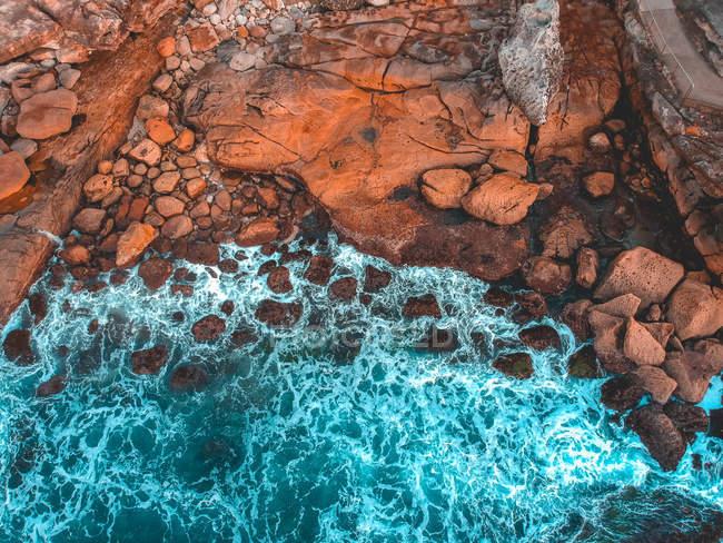 Praia australiana de ponto de vista de zangão — Fotografia de Stock