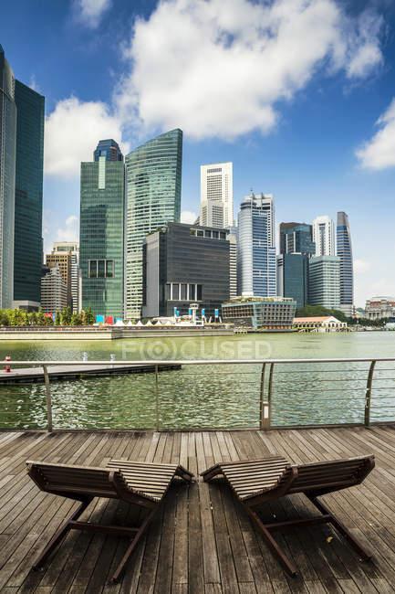 Vista panorâmica da paisagem urbana de Singapura, Singapura — Fotografia de Stock