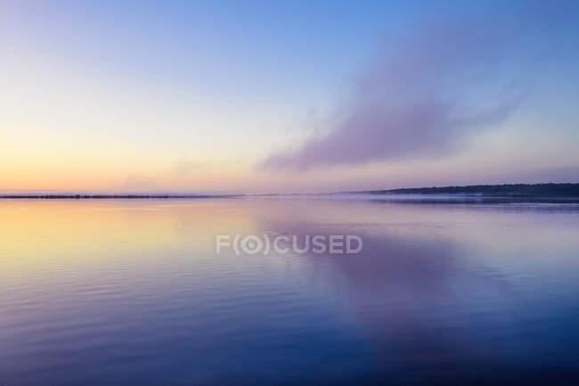Scenic view of Mist over a lake at sunrise, Western Australia, Australia — Stock Photo
