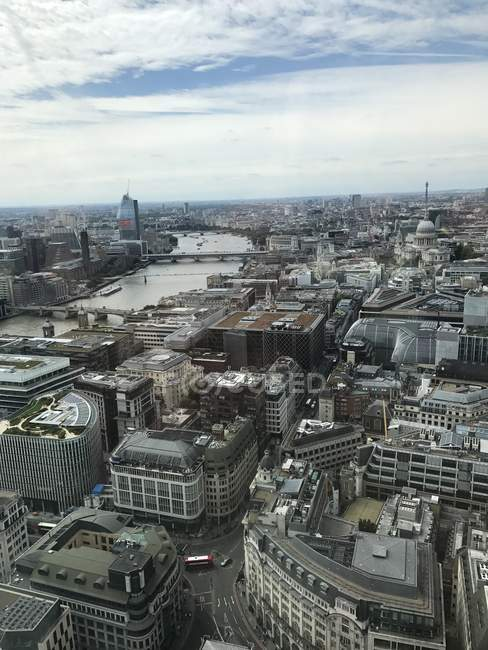 Aerial view of London, England, UK — Stock Photo