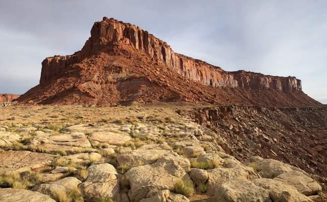 Scenic view of Bert Mesa, San Rafael Desert near Hanksville, Utah, United States — Fotografia de Stock