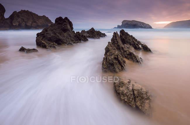 Scenic view of Playa de la Arnia, Santander, Cantabria, Spain — Stock Photo