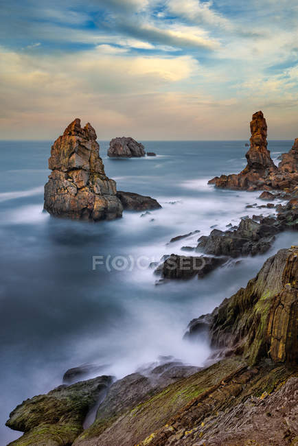 Scenic view of The Urros of Liencres, Cantabria, Spain — Stock Photo