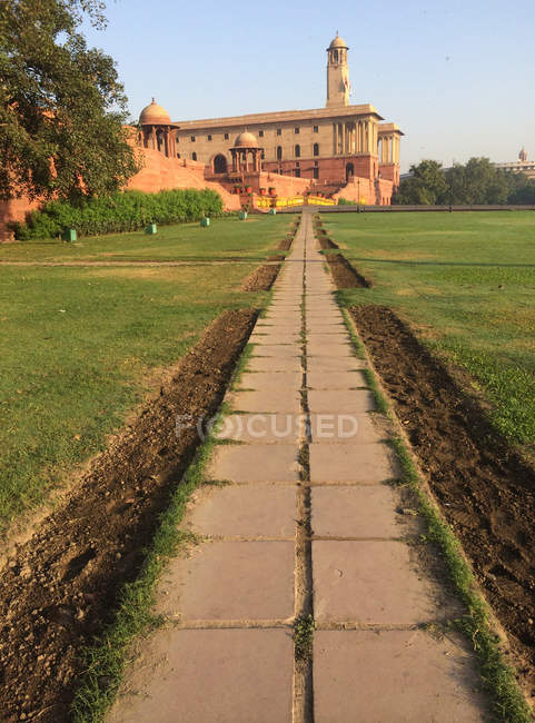 Scenic view of South Block Government building, New Delhi, India — стокове фото