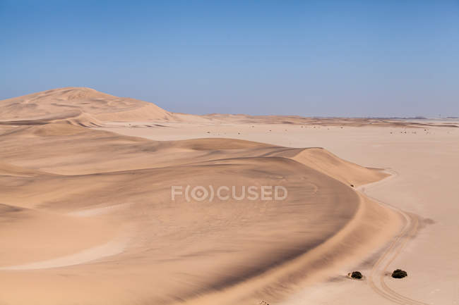 Scenic view of Desert landscape, Namibia — Stock Photo