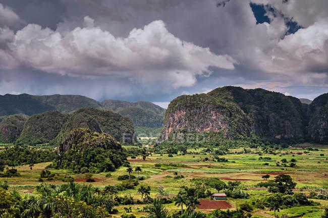 Vue panoramique du paysage Rural, Vinales, Pinar del Río, Cuba — Photo de stock