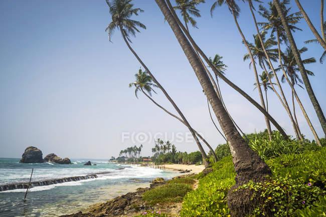 Vista panoramica sulla spiaggia di Koggala, Galle, Sri Lanka — Foto stock