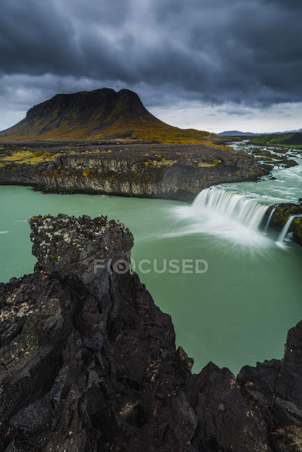 Scenic view of Thjofafoss waterfall, Iceland — Stock Photo