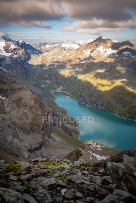 Mooserboden presa y embalse, Kaprun, Zell am See, Salzburg, Austria - foto de stock
