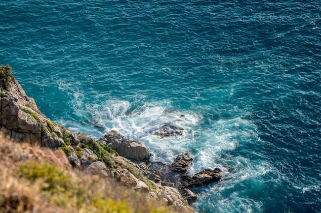 Bella vista aerea della costa del mare — Foto stock