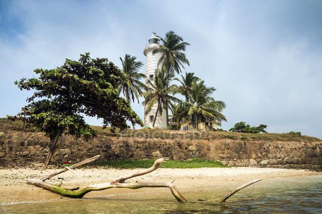Vista panoramica sul faro di Galle, provincia meridionale, Sri Lanka — Foto stock