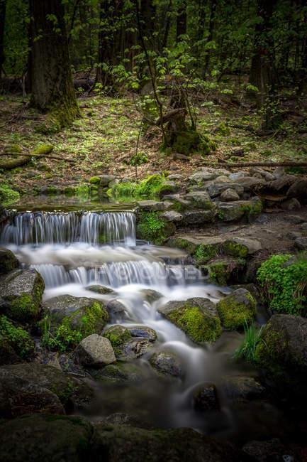 Vista panoramica della maestosa Upper Yosemite Falls, California, USA — Foto stock