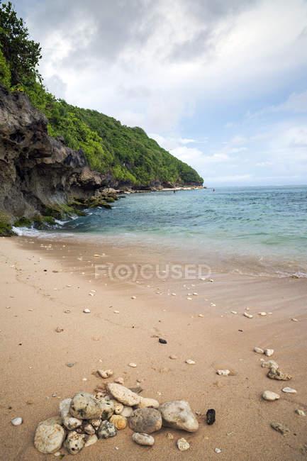 Scenic view of Green bowl beach, Kuta, Bali, Indonesia — Stock Photo