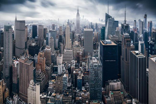 Scenic view of Manhattan cityscape, New York, USA — Stock Photo