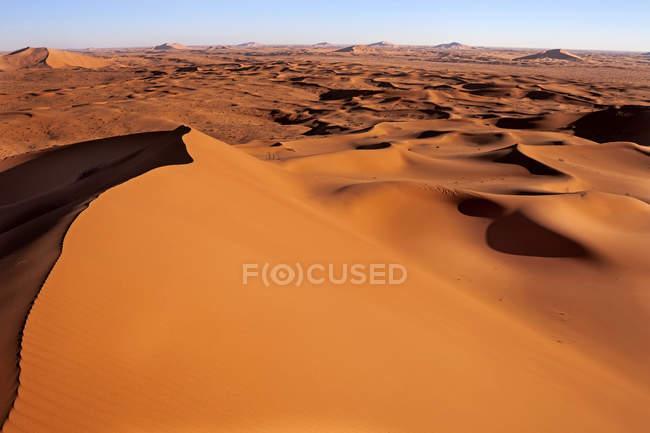 Aerial view of giant sand dunes, Riyadh, Saudi Arabia — Fotografia de Stock