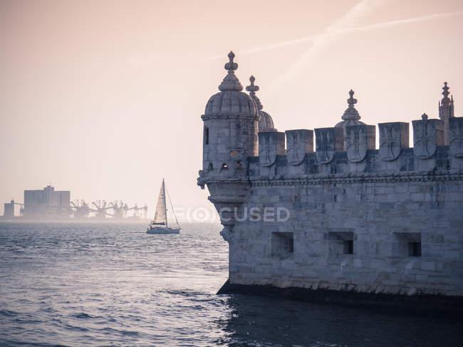 Vue panoramique de Torre de Belem, Lisbonne, Portugal — Photo de stock