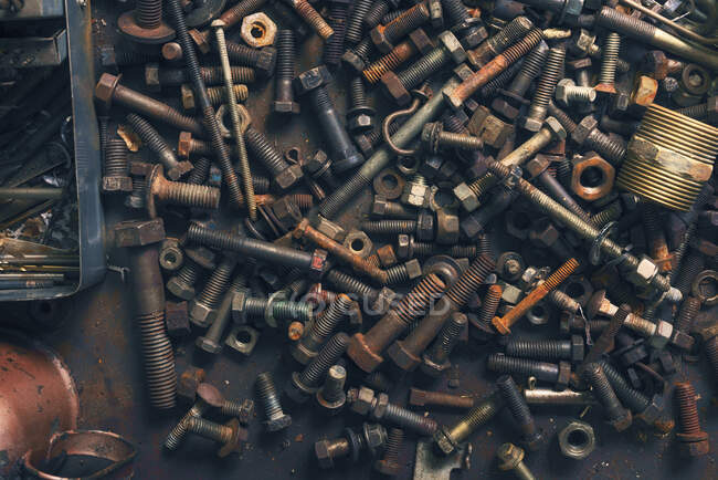 Assorted nuts and bolts — Stock Photo