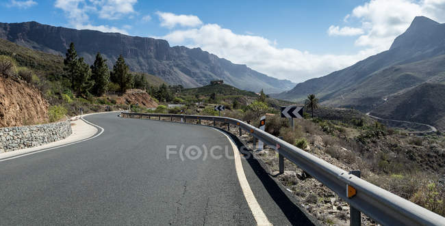 Гора дороги, San Бартоломе de Tirajana, Гран-Канарія, Канарські острови, Іспанія — стокове фото