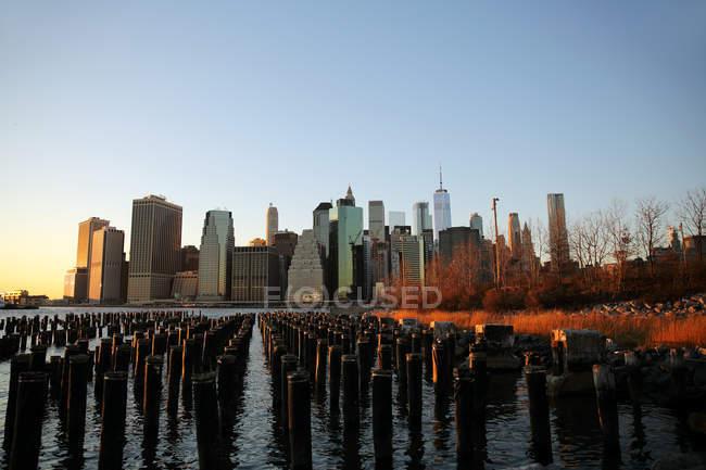 Vista panorâmica da paisagem urbana de Manhattan, Nova York, EUA — Fotografia de Stock