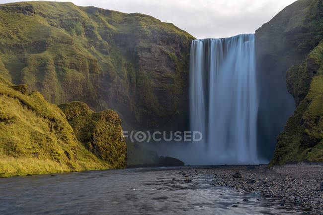 Scenic view of Skagafoss waterfall, Iceland — Stock Photo