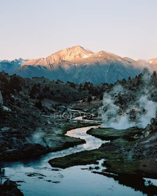 Malerische Aussicht von Thermalquellen Creek, Kalifornien, Amerika, Usa — Stockfoto