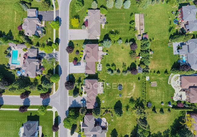 Aerial view of a small town, Ontario, Canada — Stock Photo