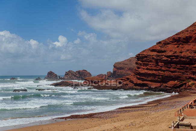 Scenic view of Legzira Beach, Sidi Ifni, Souss-Massa-Draa, Morocco — Stock Photo