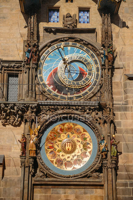 Close-up of Astronomical clock, Prague, Czech Republic — Stock Photo