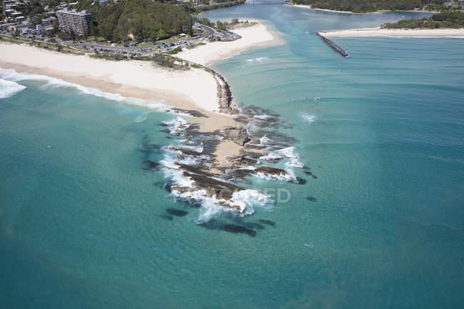 Luftaufnahme von Currumbin, Gold Coast, Queensland, Australien — Stockfoto