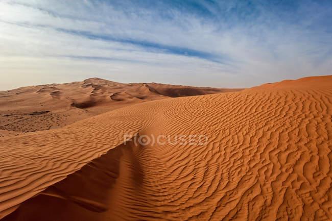 Закри видом на піщані дюни в пустелі, Саудівська Аравія — стокове фото