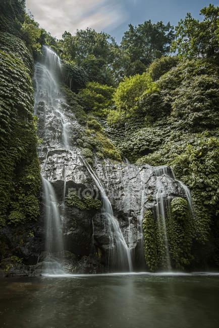 Scenic view of Banyumala Twin Waterfalls, Bali, Indonesia — Stock Photo