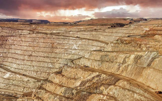 Vista panorámica de la mina Super hoyo oro, Kalgoorlie, Australia occidental, Australia - foto de stock