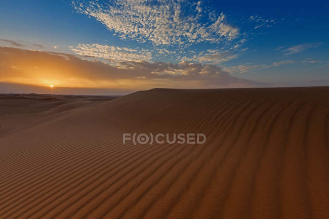 Scenic view of sandy desert, saudi arabia — Stock Photo