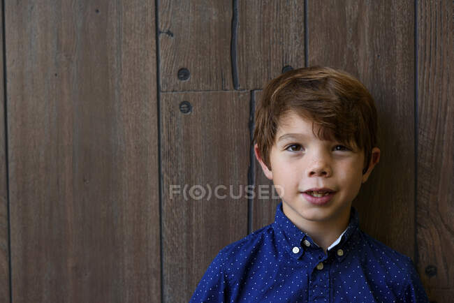 Portrait of a smiling boy with freckles — Stock Photo