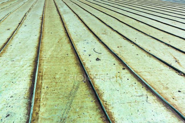 Nahaufnahme von Patina Covered Metal Roof — Stockfoto