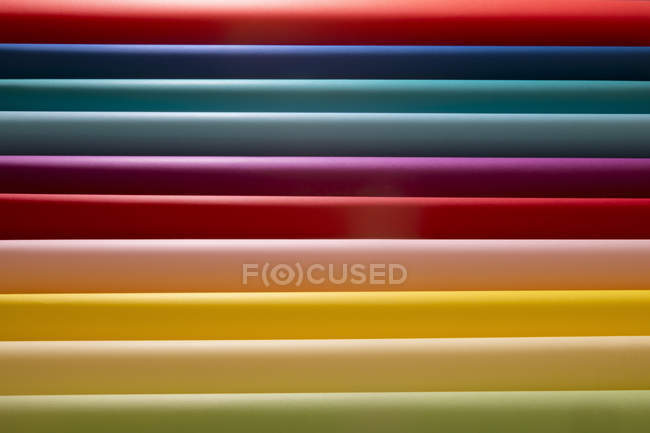 Closeup view of Rows of multi-colored cards — Stock Photo