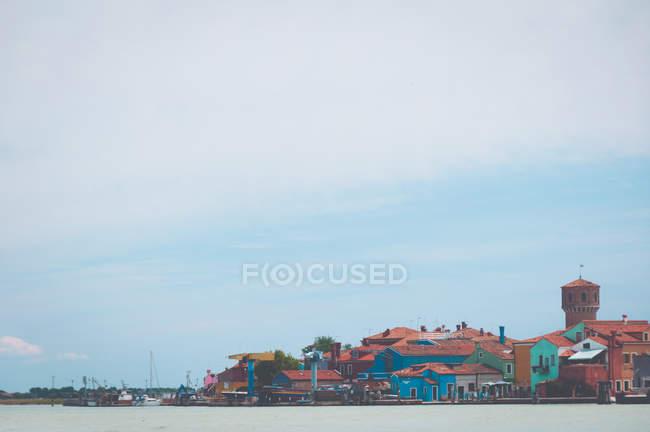 Vue panoramique sur l'île de Burano, Venise, Italie — Photo de stock