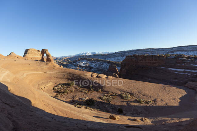 Delicate Arch in Arches National Park, Moab, Utah, USA — Stock Photo
