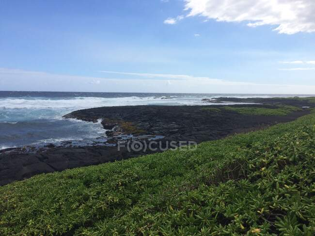 Black Sand Beach, Kona, Hawaii, USA — Stock Photo