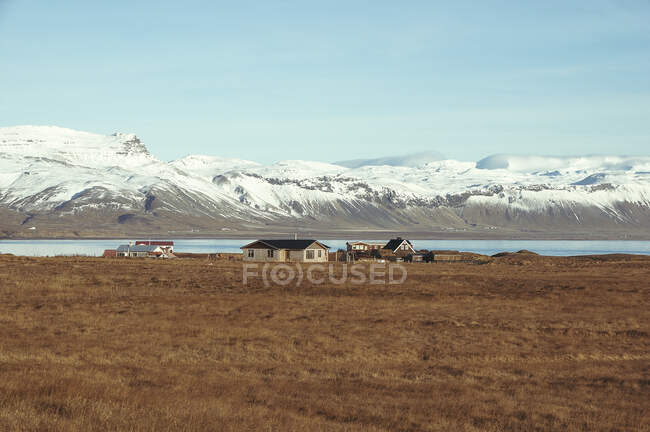 Traditional houses in countryside, Iceland — Stock Photo