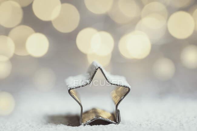 Розміщення різдвяного крему для печива покрите льодом. — стокове фото