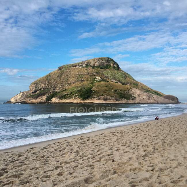 Playa Recreio cerca de Barra da Tijuca y Grumari, Rio de Janeiro, Brasil - foto de stock