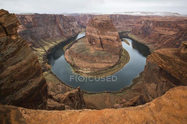Inverno a Horseshoe Bend, Pagina, Arizona, Stati Uniti d'America — Foto stock